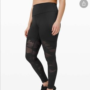 Lululemon mesh high rise camp leggings